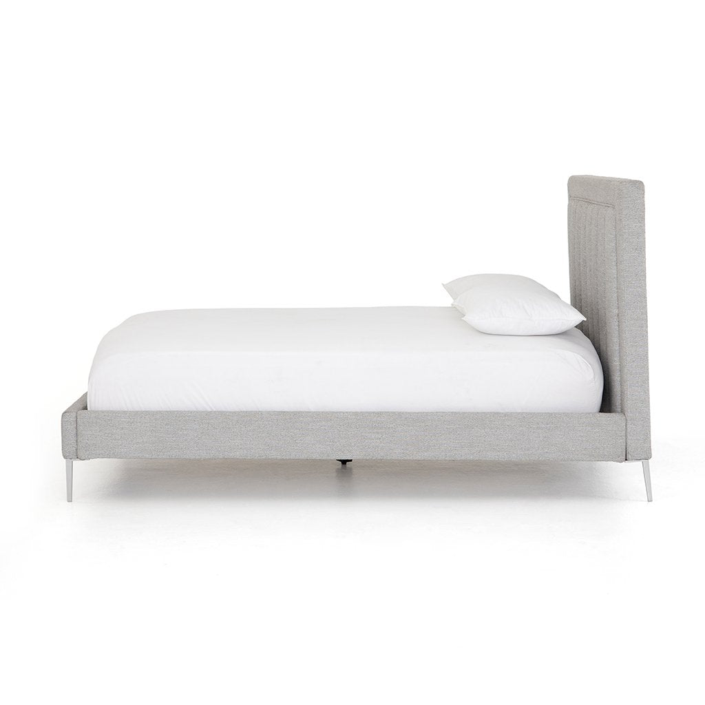 Side View Mae Grey Fabric Bed CKEN-292KA1-099