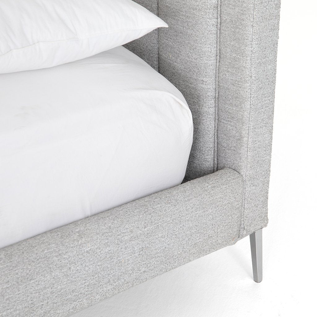 Front Detail Mae Grey Fabric Bed CKEN-292KA1-099