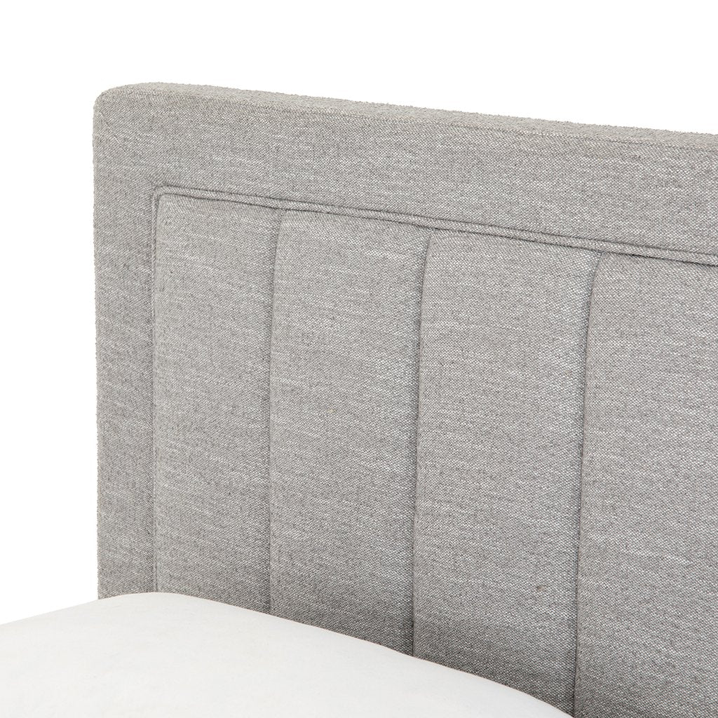Headboard Detail Mae Grey Fabric Bed CKEN-292KA1-099