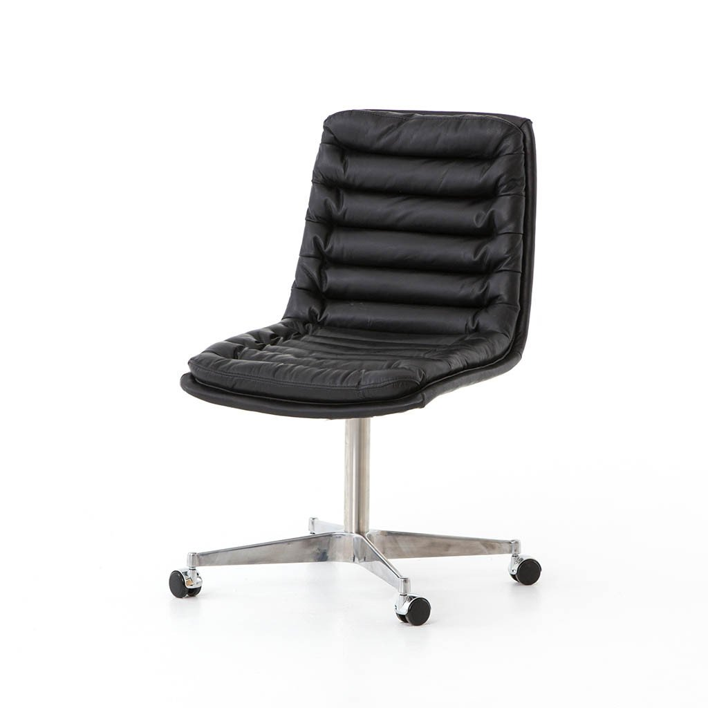 Malibu Desk Chair - Rider Black Four Hands Furniture CCAR-Y1-RBK