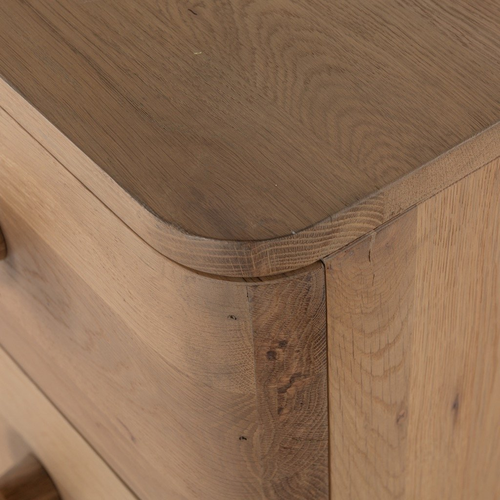 Mallory 6 Drawer Dresser - Light Oak corner
