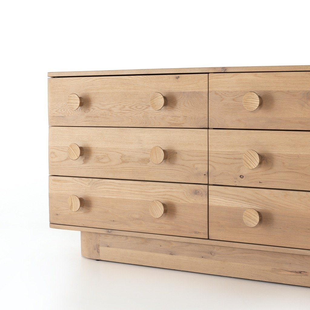 Mallory 6 Drawer Dresser - Light Oak Drawers