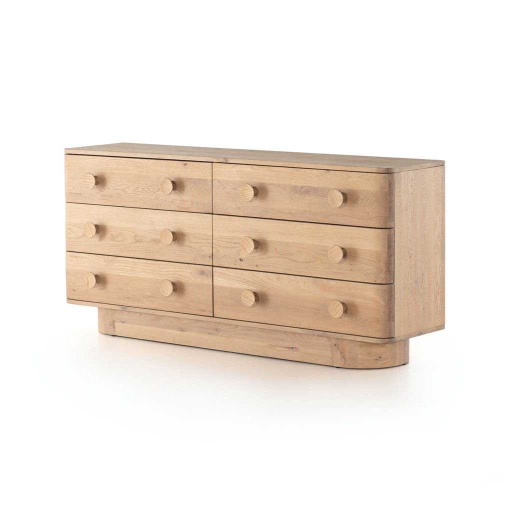 Mallory 6 Drawer Dresser - Light Oak