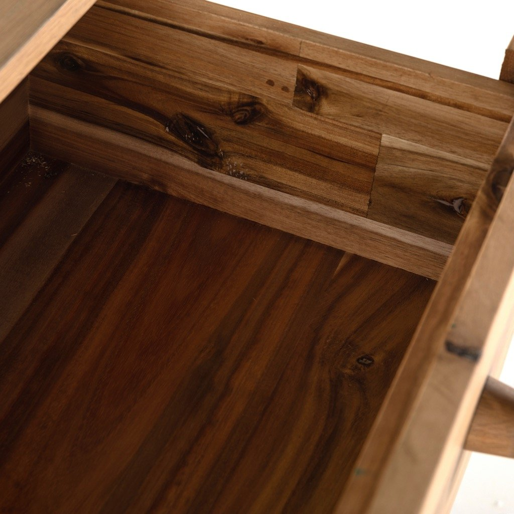 Mallory 6 Drawer Dresser - Light Oak open drawer