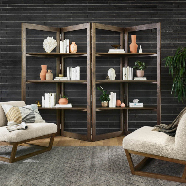 Malone Oak Bookshelf Room Divider CIRD-452