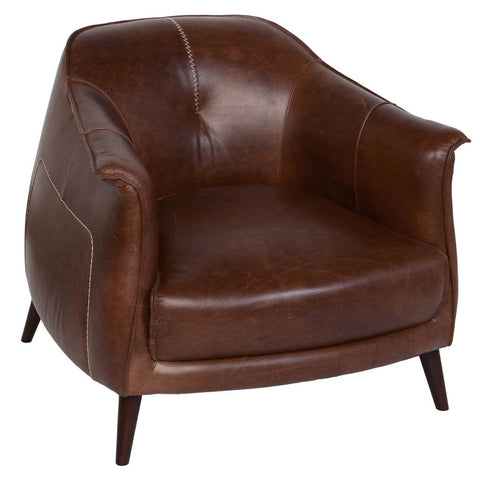 Banks Swivel Chair - Ebony Leather