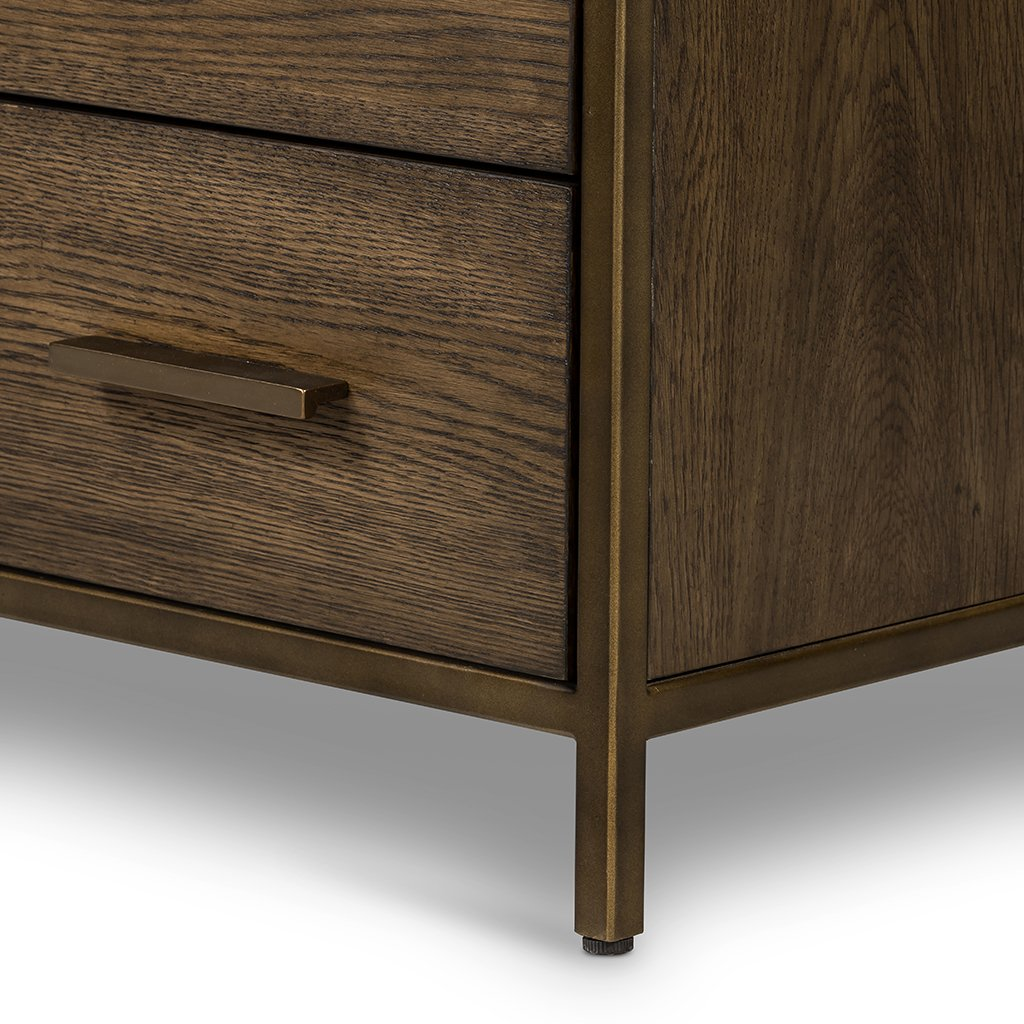 Mason 5 Drawer Oak Dresser Four Hands VHDN-018 Leg Detail