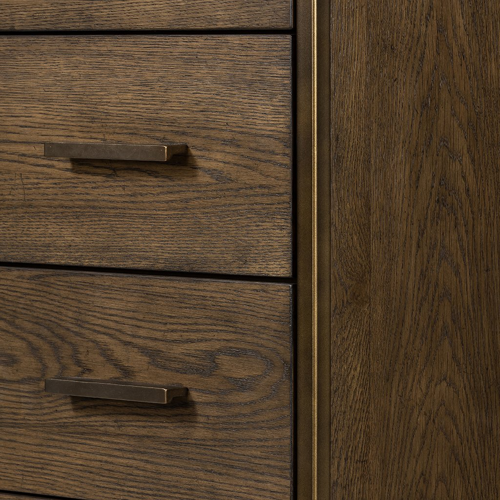 Mason 5 Drawer Oak Dresser Four Hands VHDN-018 Drawer Detail