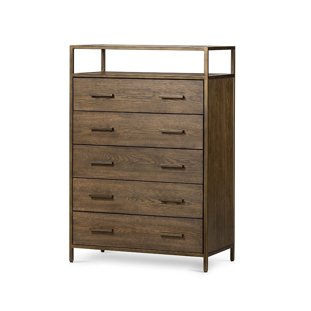 Mason 5 Drawer Oak Dresser Four Hands VHDN-018