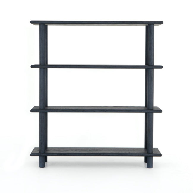 Mattia Bookshelf - Washed Indigo Front View