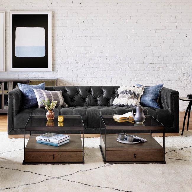 Maxx sofa destroyed black leather