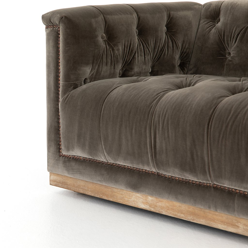 modern fabric library sofa