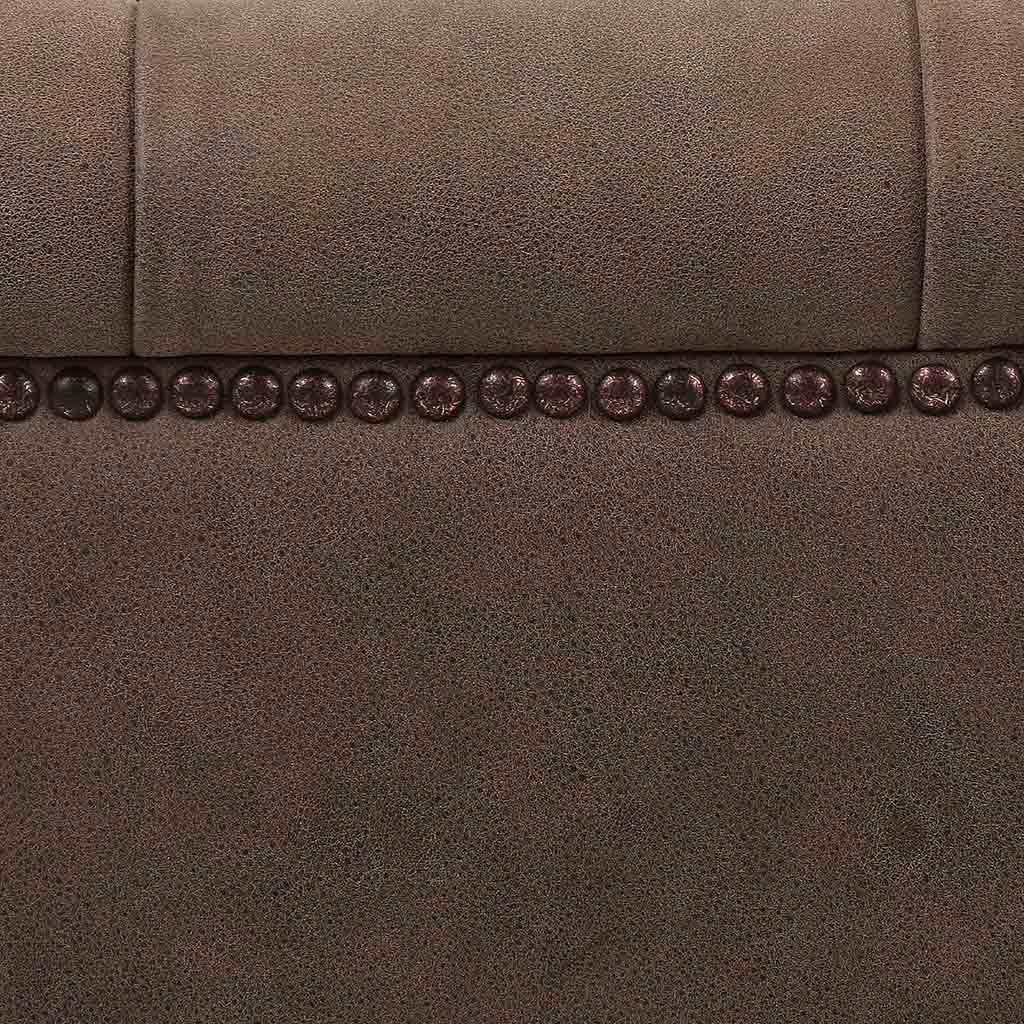 modern brown leather sofa