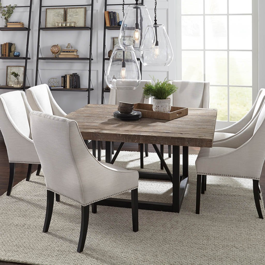 Messina Square Dining Table Plantation Grown Pine And Durable Iron