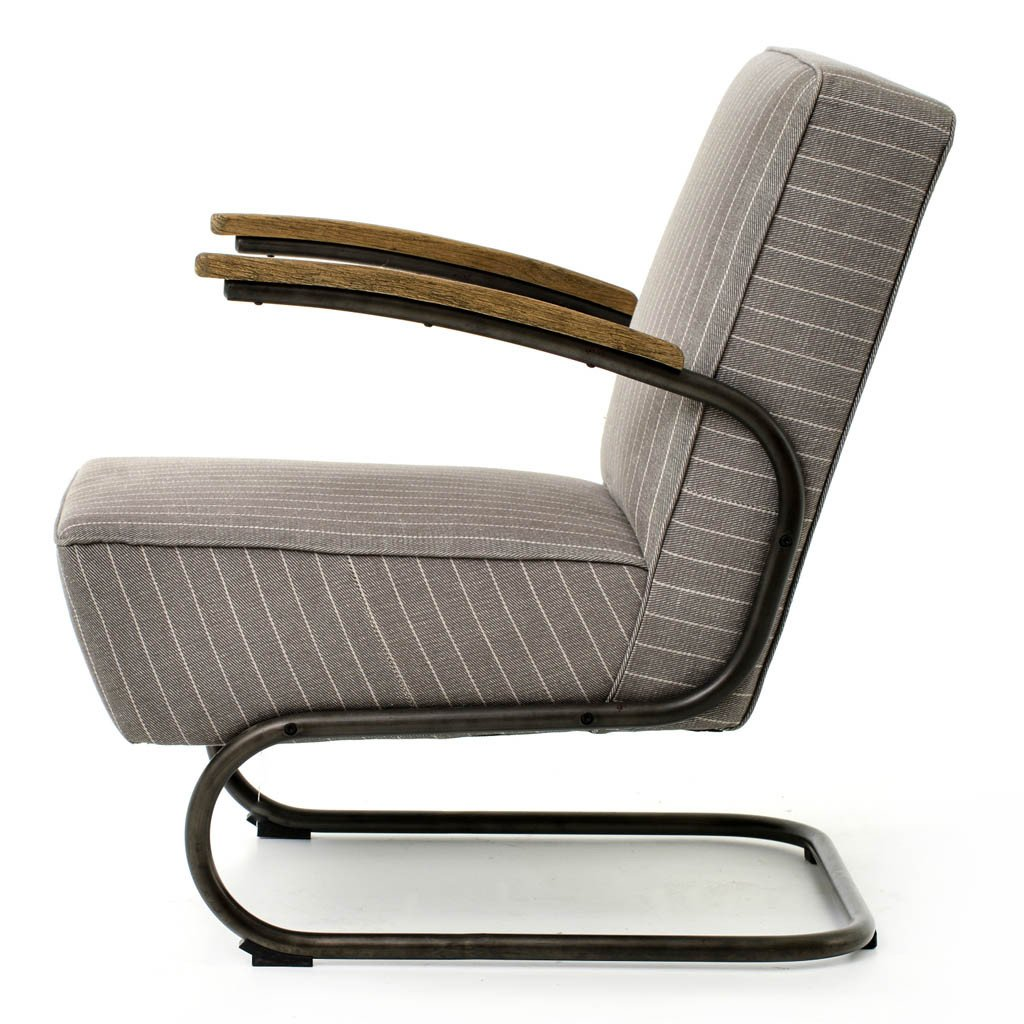 Miles Arm Chair - Grey Twill Four Hands