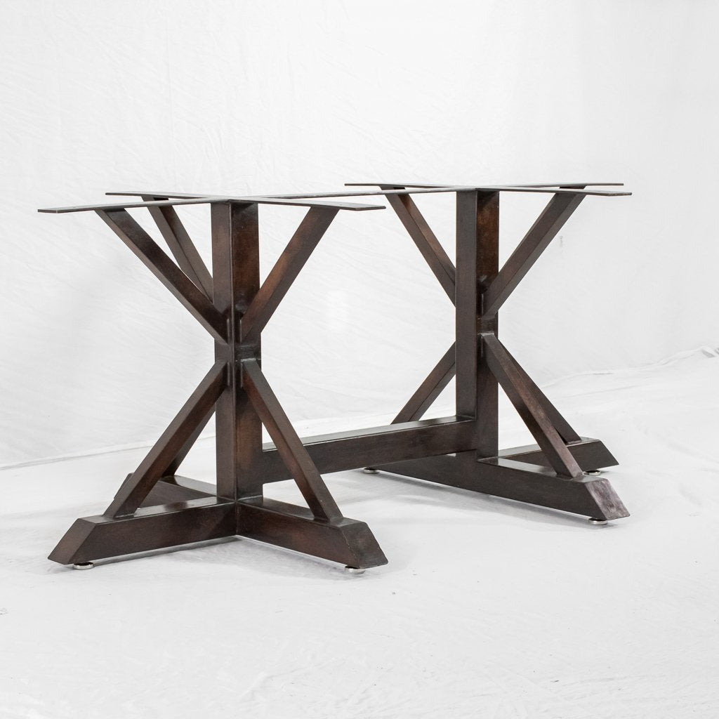 Geometric Iron Dining Table Base