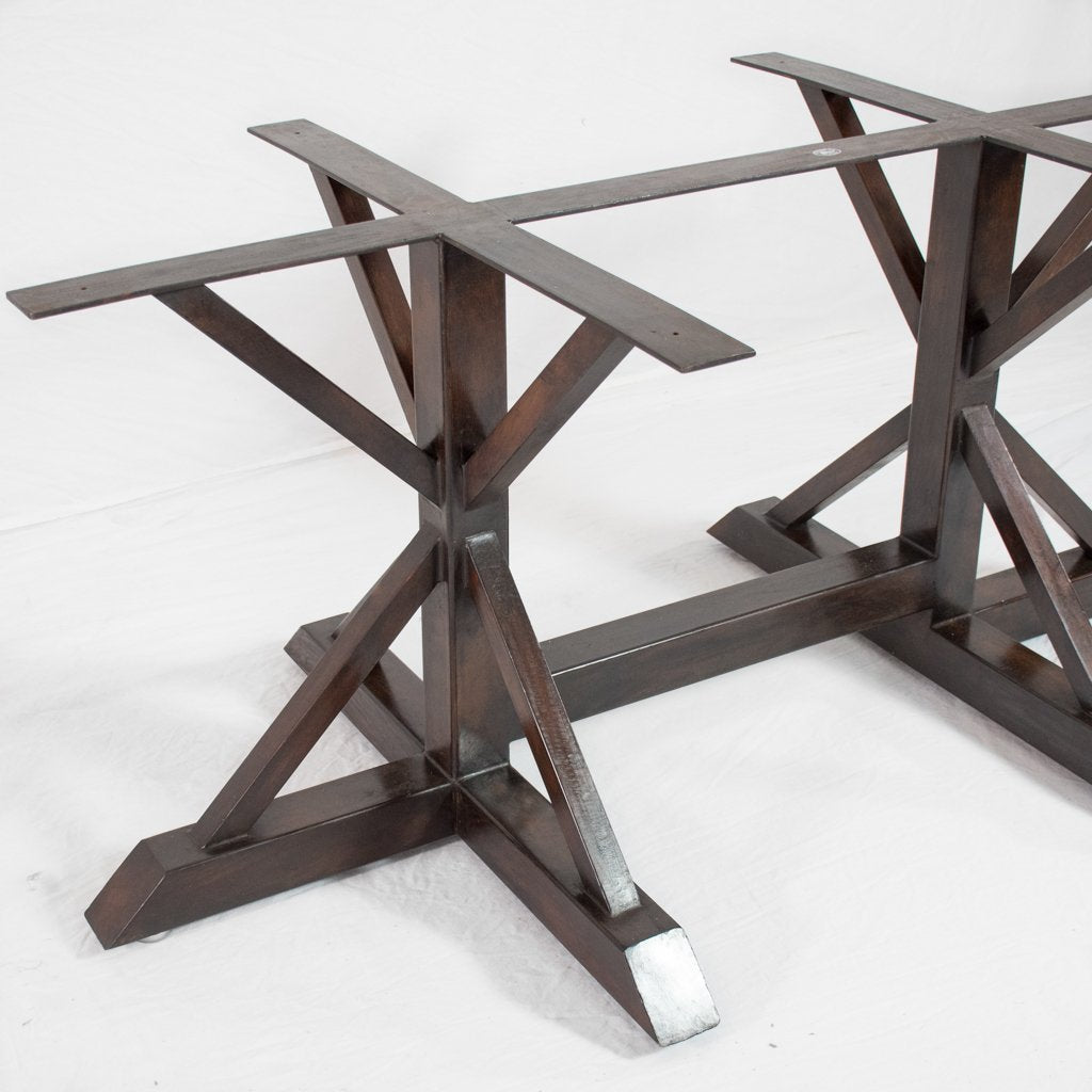 Double Miners Iron Dining Table Base