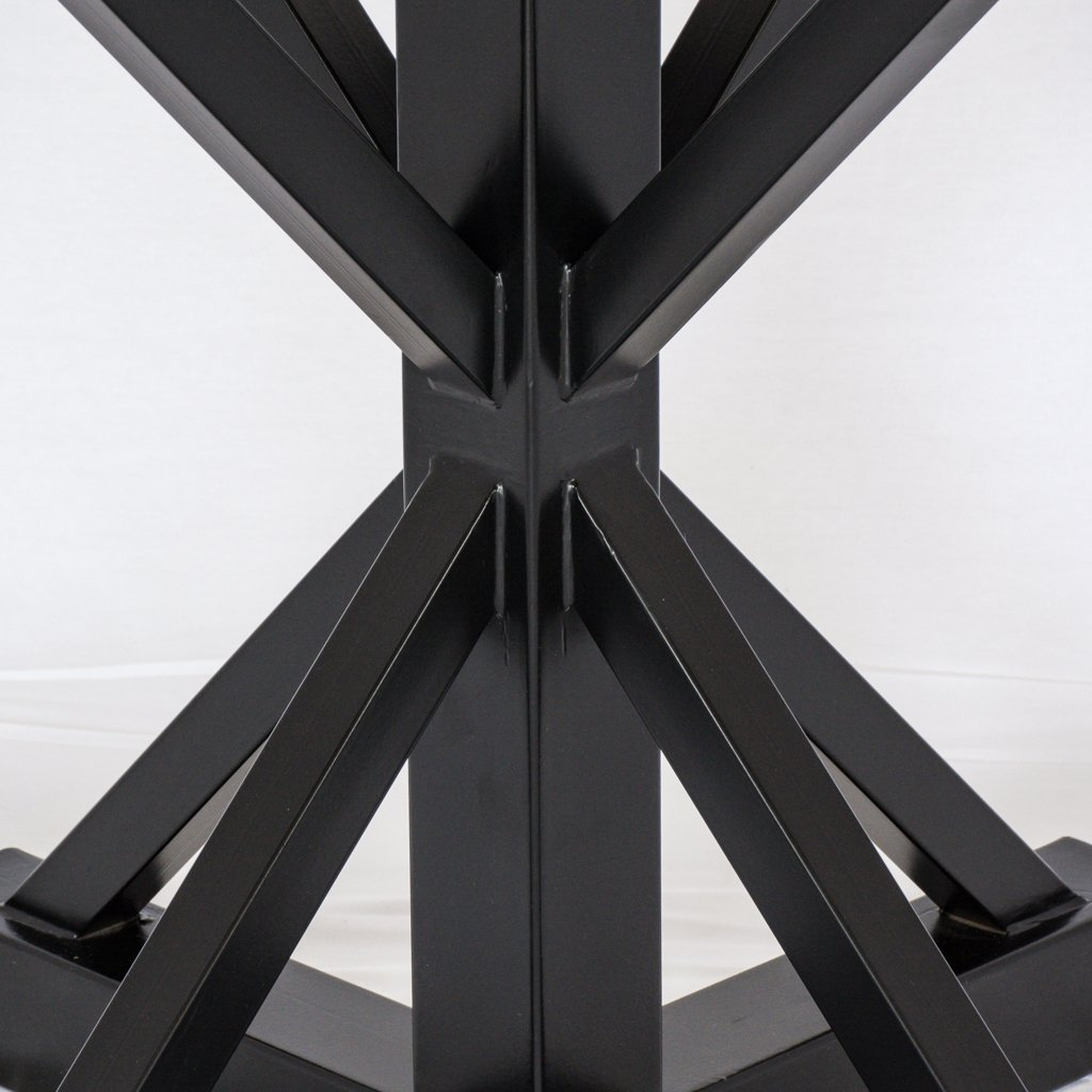 iron pedestal table base