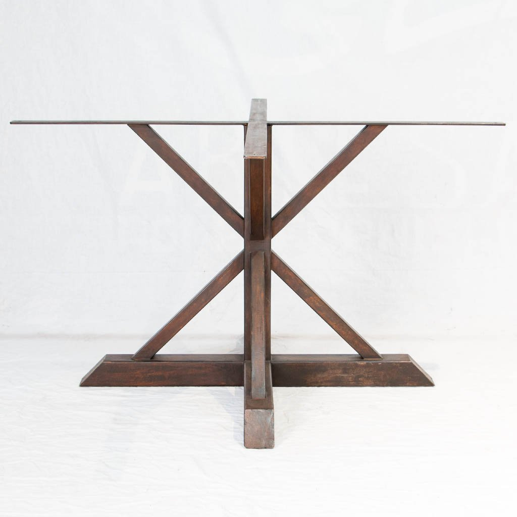 Miners Iron Table base in Antique Rust