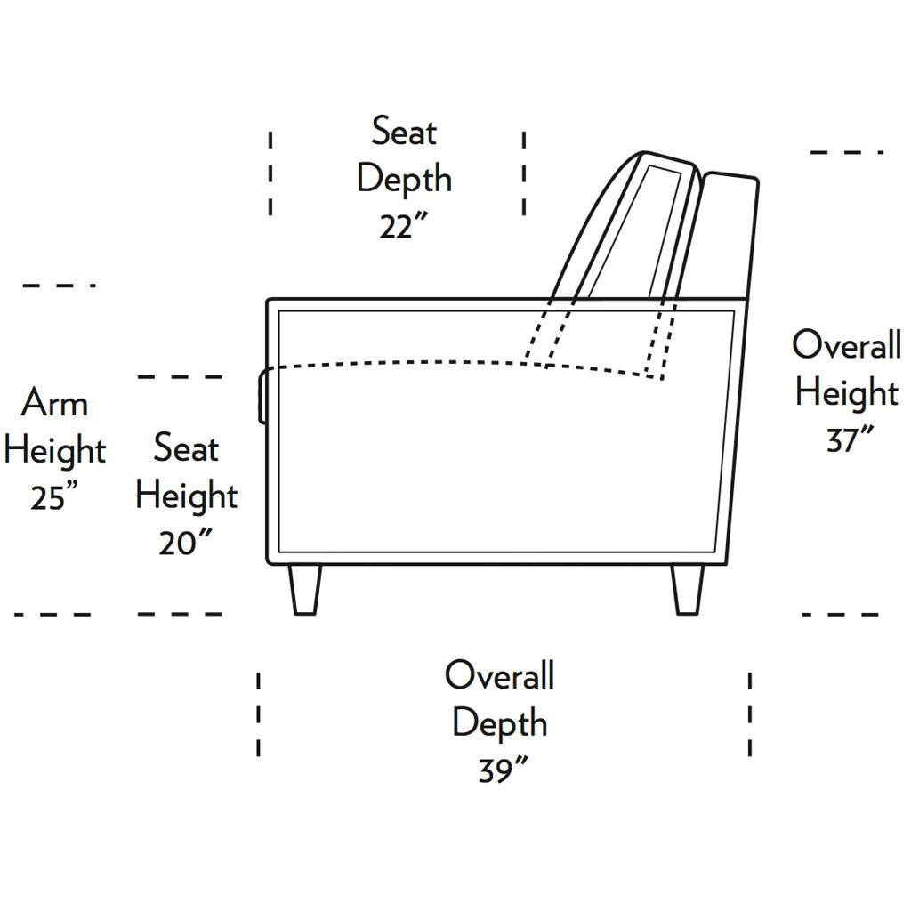 Mitchell Comfort Sleeper Side Dimensions