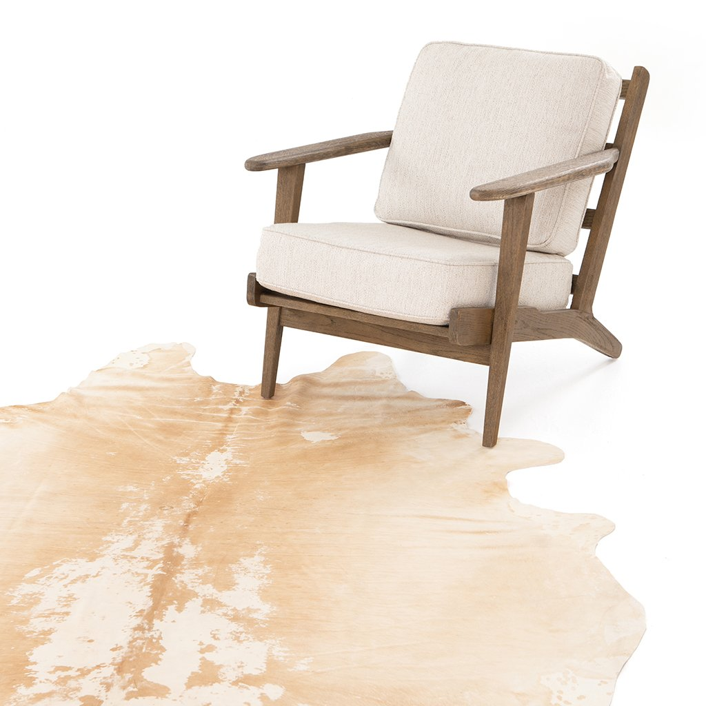 Modern Cowhide Rug - Natural Brown SMAT-001 Four hands