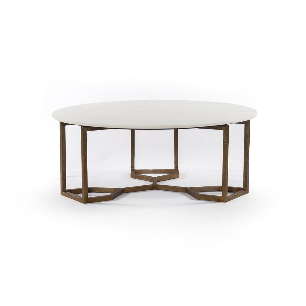 Naomi Coffee Table White Marble IMAR-186