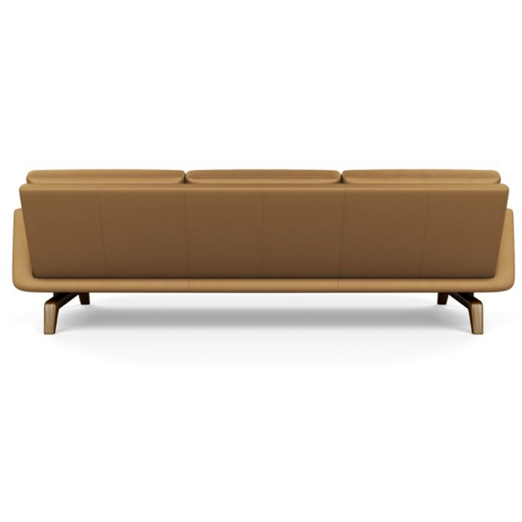Nash three seat leather sofa by american leather