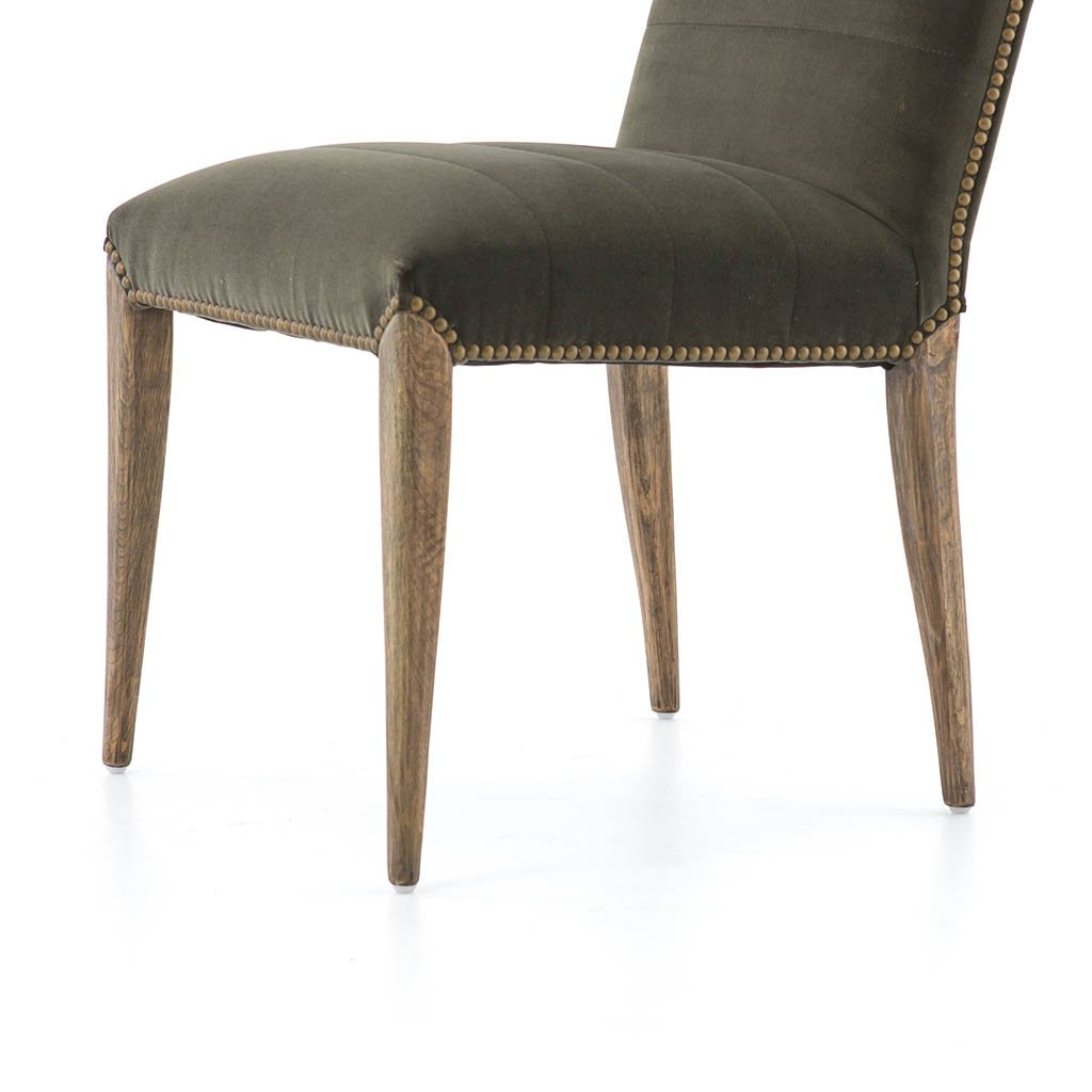 velvet dining chair dark green