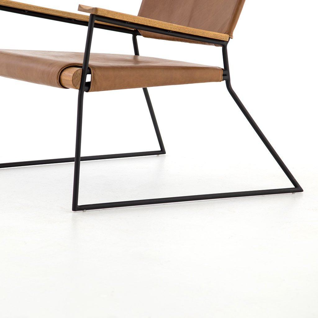 Newton Leather Chair Slim style