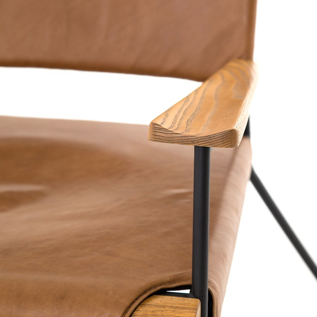 Newton Contemporary Leather Accent Chair by Four Hands Furniture
