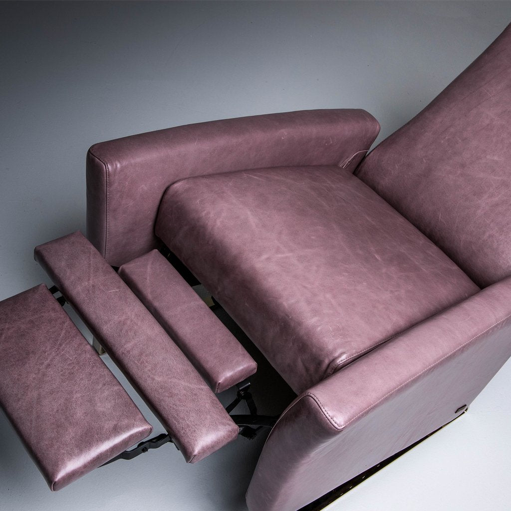 Nico Re-Invented Recliner - Mont Blanc Opal leather for sale