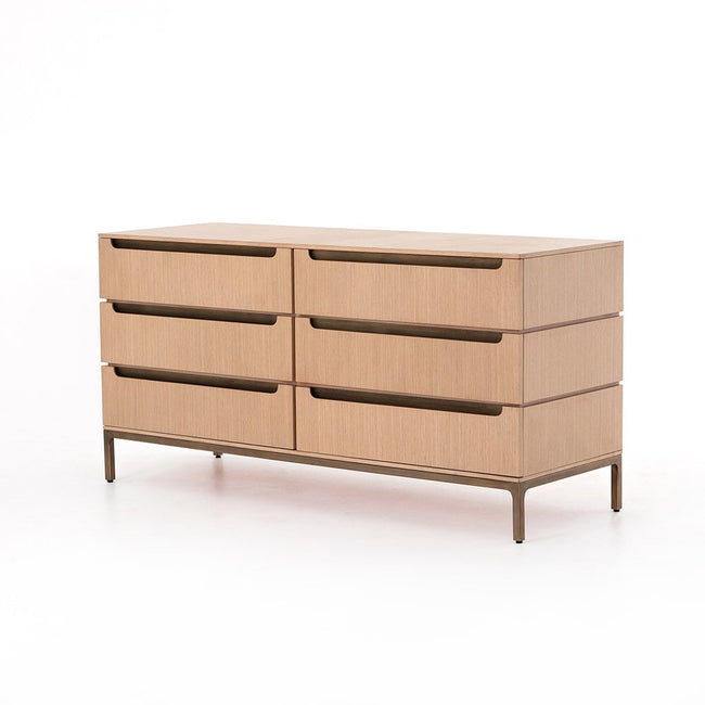 Nimbus 6 Drawer Oak Dresser