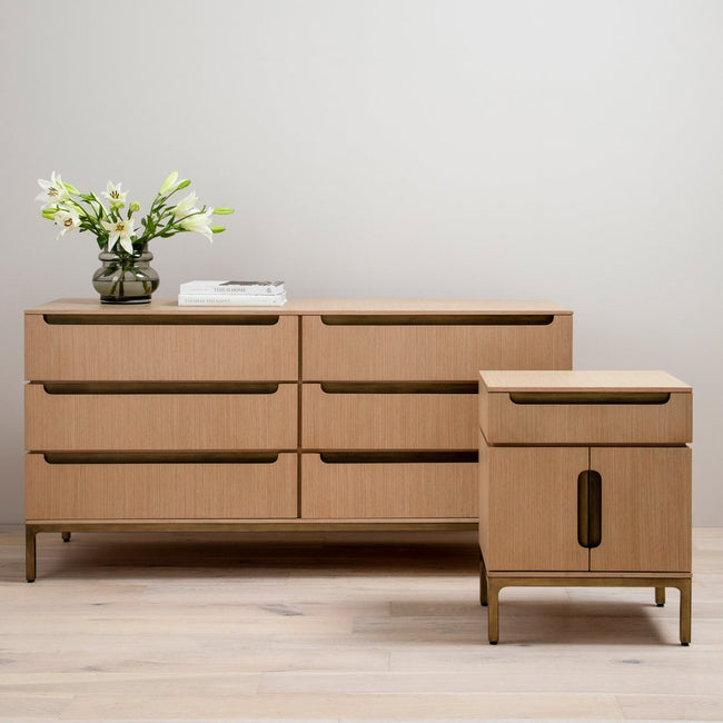 Nimbus 6 Drawer Oak Dresser Four Hands Furniture