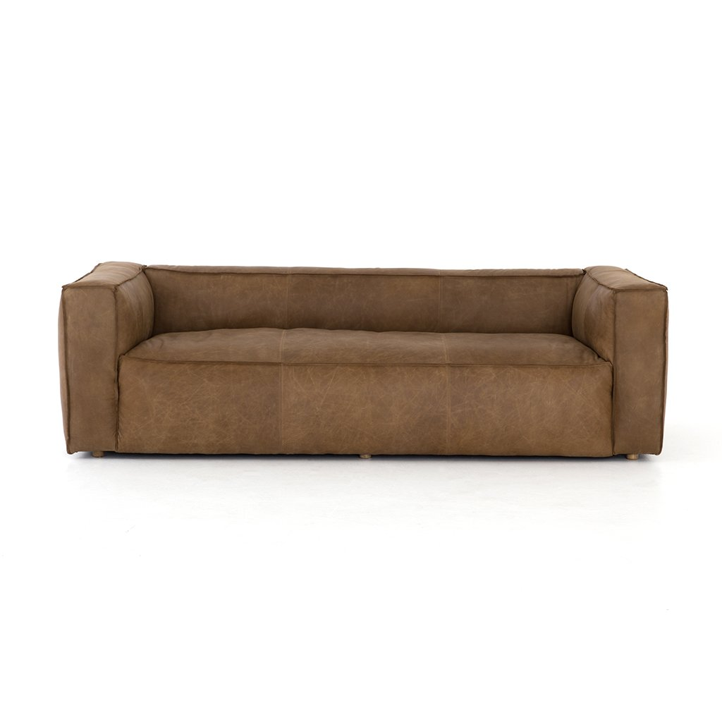 Nolita Reverse Stitched Sofa - Natural Washed Sand