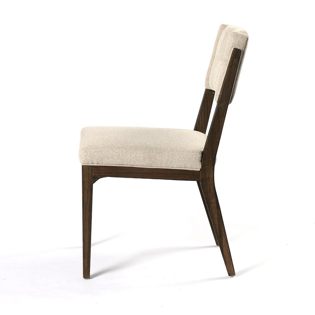 Side View Norton Modern Dining Chair - Fulci Stone
