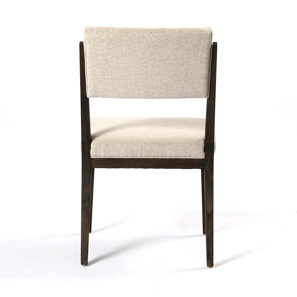 Back View Norton Modern Dining Chair - Fulci Stone
