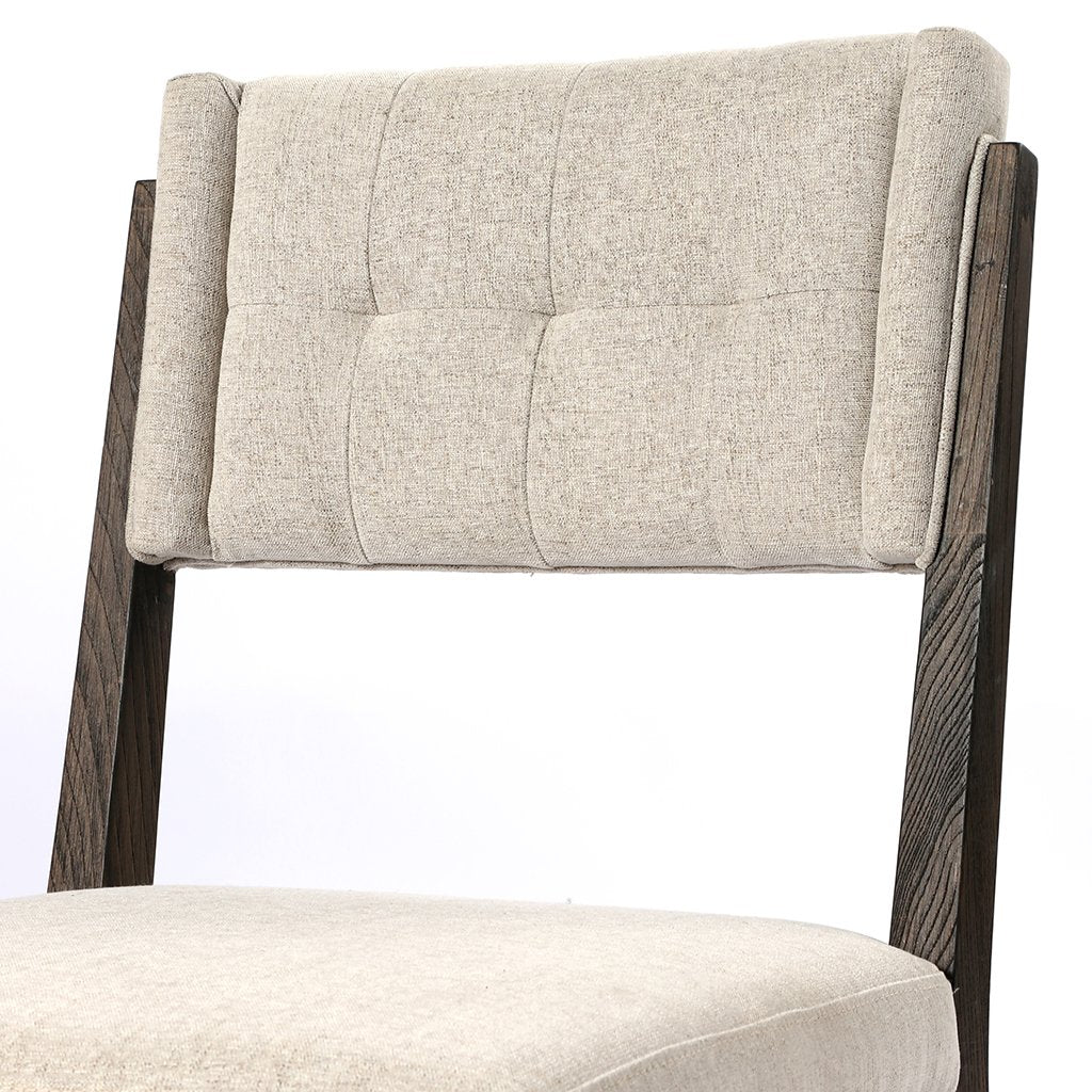 Backrest Detail Norton Modern Dining Chair - Fulci Stone