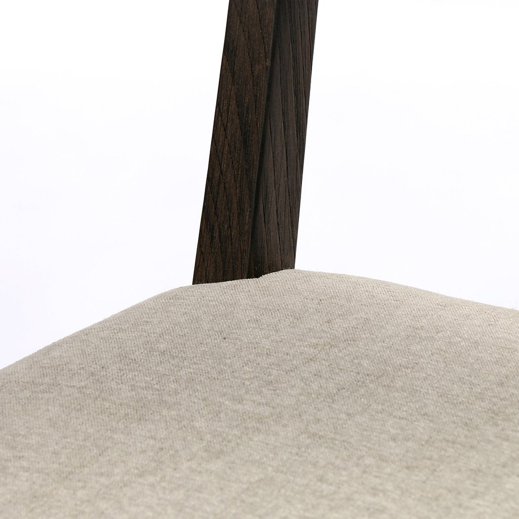 Seat Detail Norton Modern Dining Chair - Fulci Stone