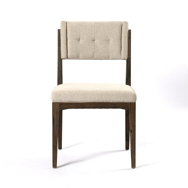 Front View Norton Modern Dining Chair - Fulci Stone