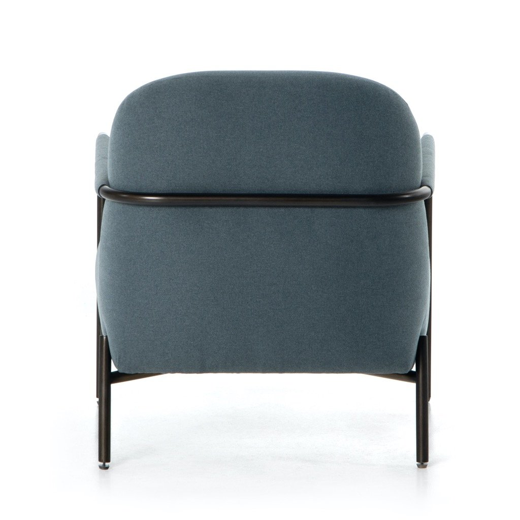Ollie Arm Chair - Fort Dusk back view