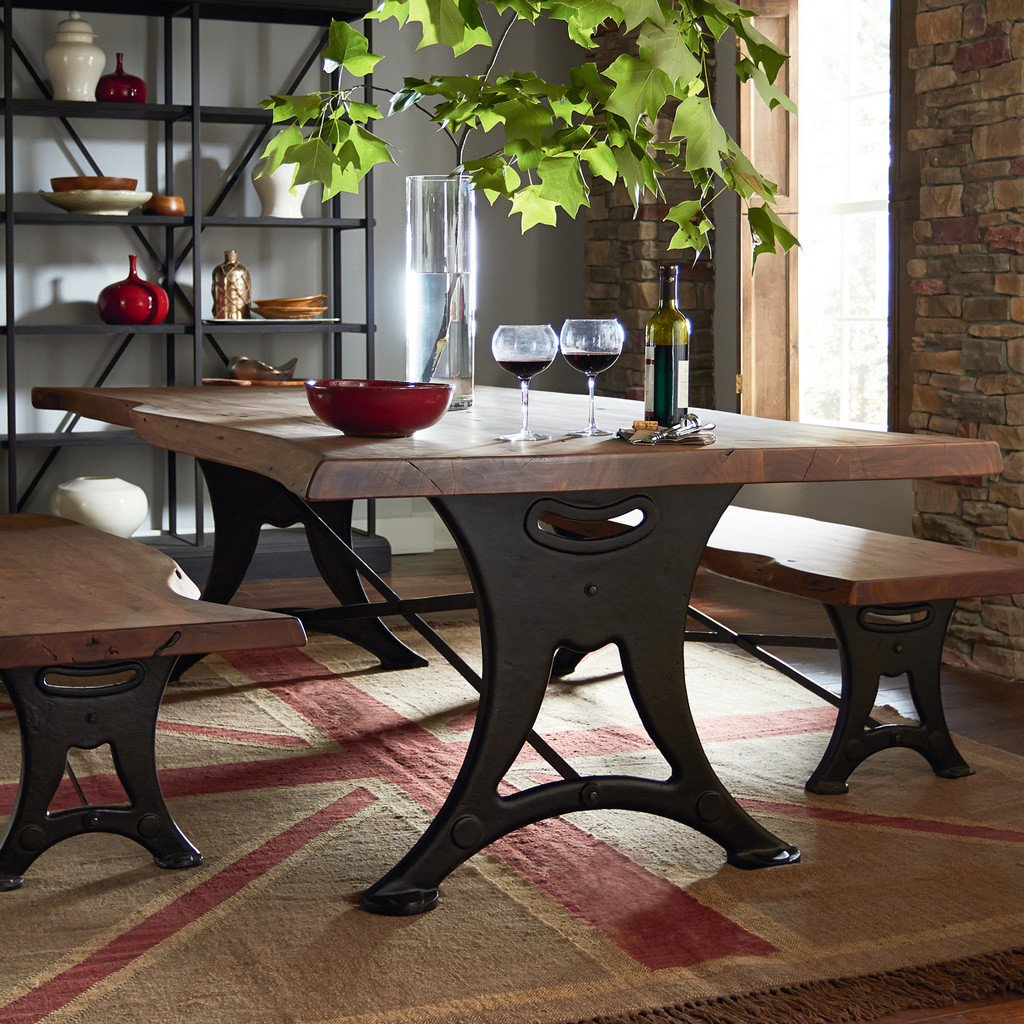 rustic slab wood dining table