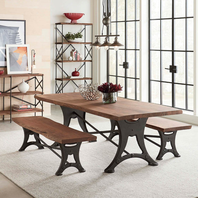 Organic Forge Live Edge Dining Table HTD