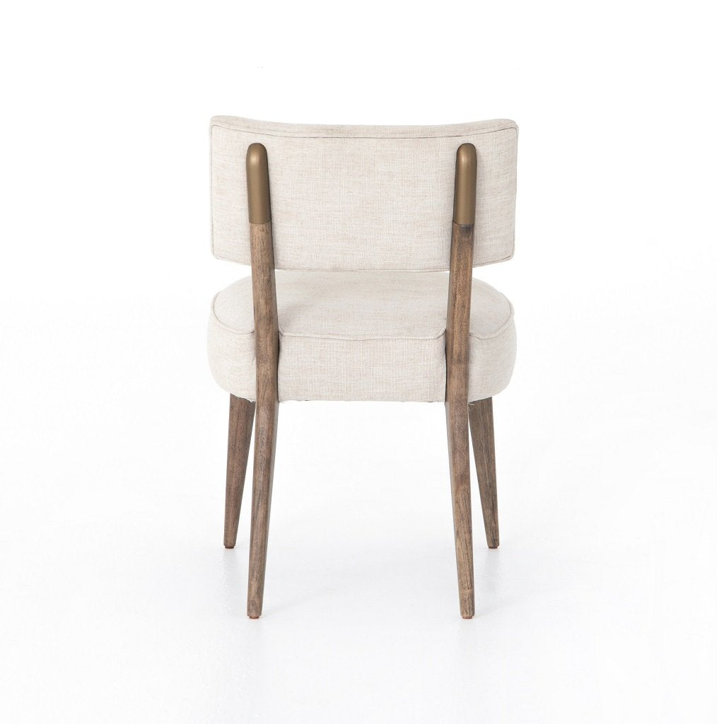 Orville Dining Chair - Cambric Ivory Back View