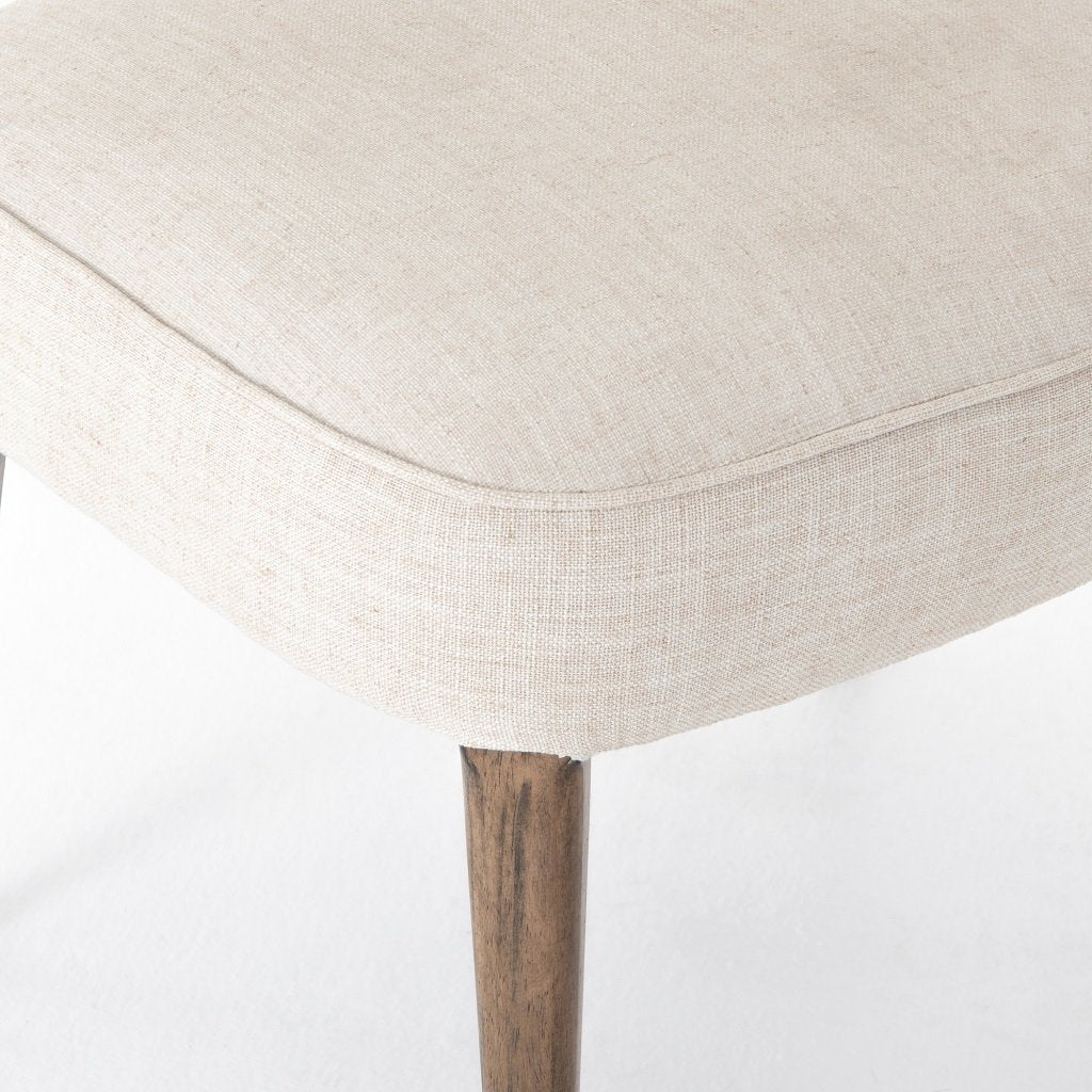 Orville Dining Chair - Cambric Ivory Seat Detail