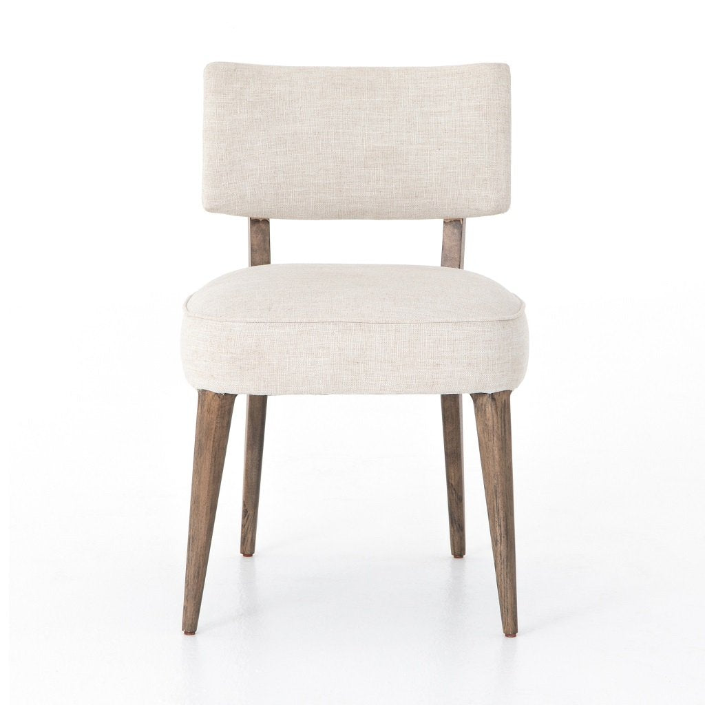 Orville Dining Chair - Cambric Ivory Front View