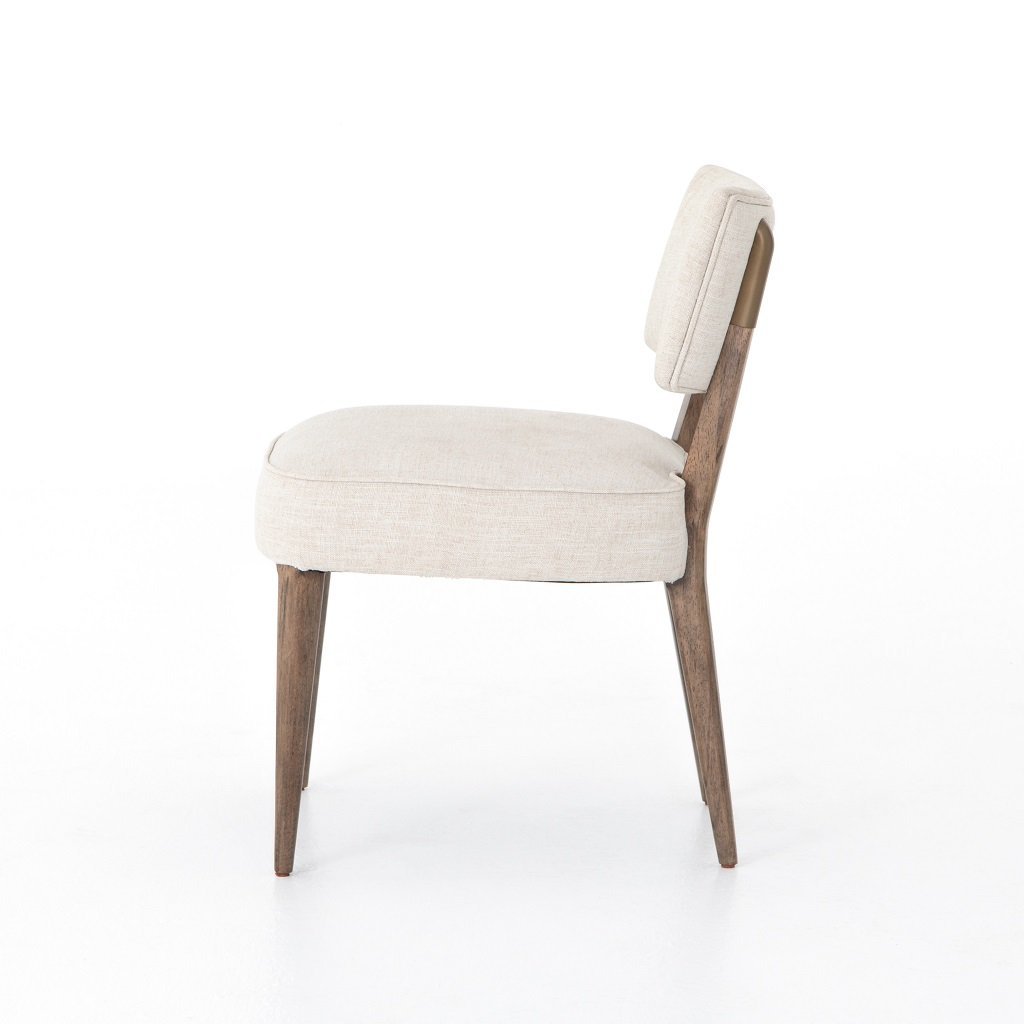Orville Dining Chair - Cambric Ivory Side View