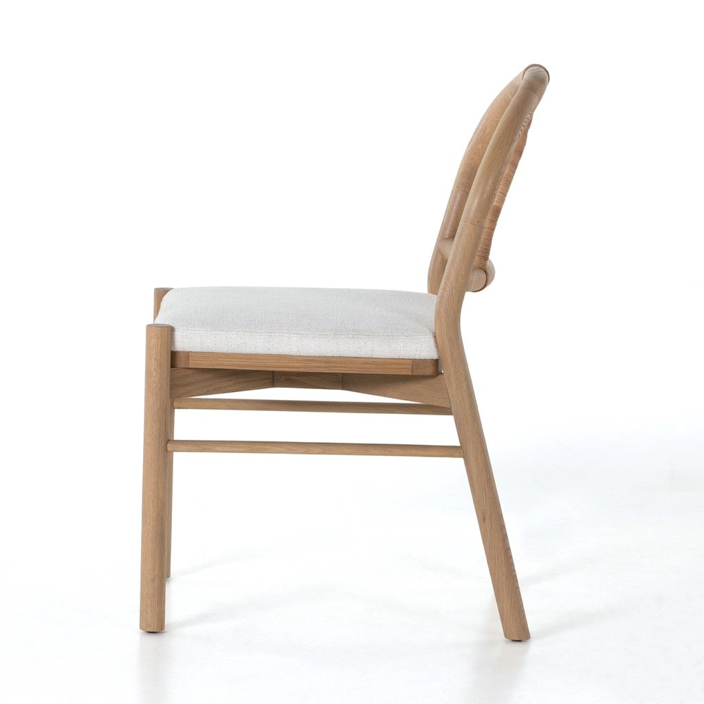 Pace Dining Chair - Burnished Oak Side View