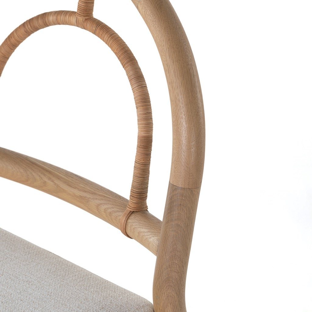 Pace Dining Chair - Burnished Oak Arched Frame Detail