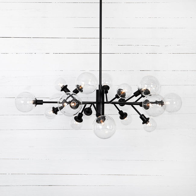 Four Hands Pellman Flat Black Chandelier CCAR-66B