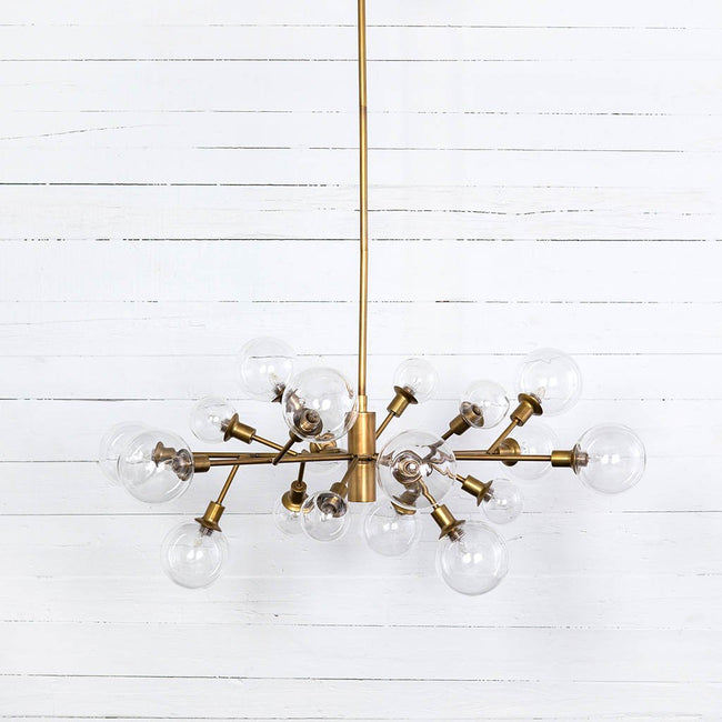 Pellman Matte Brass Chandelier Four Hands CCAR-66